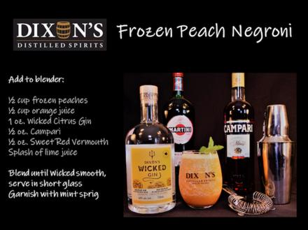 Frozen Peach Negroni